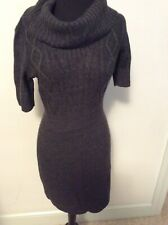 Ann TaylorLOFT Sweater Dress XS Gray Cowl Neck Short Sleeve Acrylic NWT MSRP $79