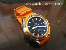 Nylon Balístico Naranja la OTAN ® Correa Para OMEGA Planet Ocean reloj 20mm