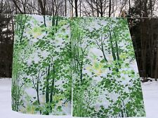 vintage Sears PERMA-PREST Percale pillow cases Queen size, USA, mod Green Tree