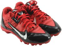Nike Youth Boys Alpha Strike Black Red Athletic Soccer Cleats Shoes Size 4.5Y