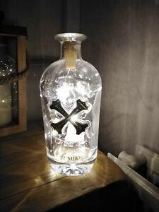 Bumbu Rum Bottle Lights LED Battery Lamp Camping Caravan Skull Crossbones