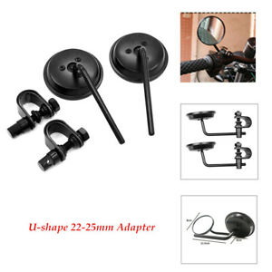 Motorcycle 4 inch caliper clip type rear view mirror 22-25mmMounting Clamps