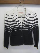 vtg Cartonnier Sweater Button Front Cardigan navy & white Anthropologie sz XS
