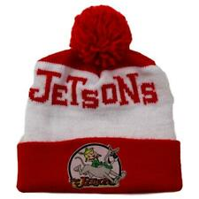 Vintage Jetsons Beanie Cap Elroy & Astro Red White Hat with Pom-Pom
