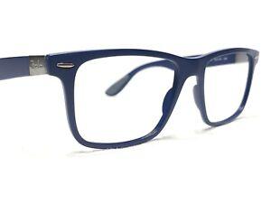 Ray Ban Liteforce RB7165 5207 Men's Blue Modern Rx Eyeglasses Frames 54/18~150