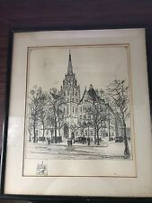The American Church of Paris Original Painting by Frank M. Armington 1931
