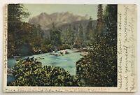 Castle Crag Near Mt Shasta California Showing Head Waters Of Sacramento River