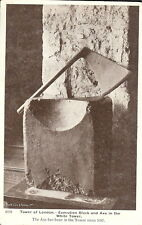 London: Tower of London - Execution Block and Axe in the White Tower - c.1920s