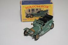 1:43 MATCHBOX YESTERYEAR Y15 Y 15 ROLLS ROYCE SILVER GHOST GREEN EXCELLENT BOXED