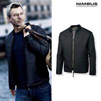 Nimbus Men's Halifax Jacket NB34M - Adults Plain Front Zip Quilted Casual Coat
