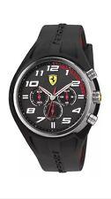 FERRARI SCUDERIA Mens Pilota Black Silicone Twist Chrono Watch NEW! 0830147 $625