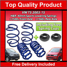 VW T5 TRANSPORTER CARAVELLE 03-15 H&R LOWERING SPORTS SPRINGS 40MM KIT 29270-1