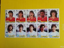 Fogli Calciatori Panini Italia 90 sheet 10 sticker Argentina Colombia Maradona