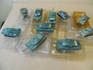 Job Lot 10 Die Cast Model Tanks New Old Stock 90 mm Length on most of the tanks