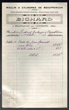 ▬►COMMENTRY BEAUFRANCON (03) Meunier Moulin à Cylindre Farine BICHARD en 1934