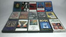 Lot of 15 Classic Hard Rock Hair Metal CASSETTE TAPES -The Who AC/DC Nugent ZZ