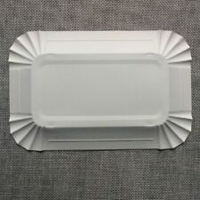 10Pcs Rectangular Paper Plates Wedding Birthday Tableware 16*10cm Party Supplies