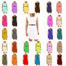 KBD Kids Girls Soft Plain Skater Sleeveless Belted Party Fit Flare Dress Tops