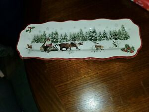 Better Homes & Gardens Heritage Collection Christmas Dish Plate Tray Santa