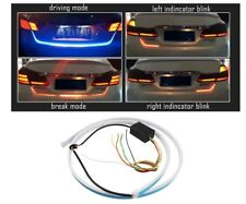 Car Blue & Red DRL Brake Light Side Turn Signal Backlight And Flow Indicators