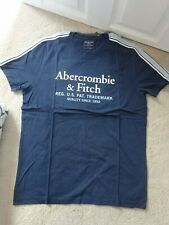 BNWT Mens Abercrombie Crew Neck Logo T-Shirt, Large, RRP £29