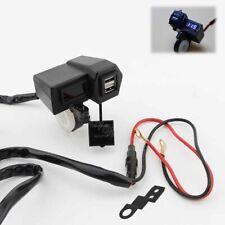 LED Voltmeter USB Charger For Harley Davidson Sportster Softail Dyna Touring
