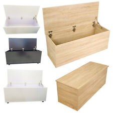 Wooden Large Ottoman Storage Box Chest Bench Seat Toy Bedding Trunk Cabinet Lid