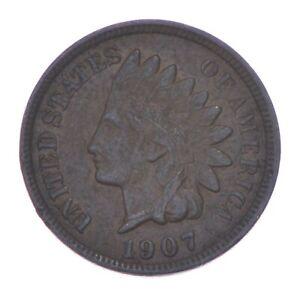 XF+ 1907 Indian Head Cent - Razor Sharp *384