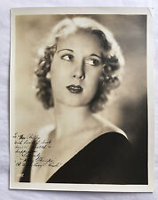 ORIGINAL MARY PHILIPS AUTOGRAPH SIGNED 8x10 1930s WARDROBE MISTRESS COLLECTION