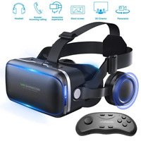 VR Headset 3d Glasses Virtual Reality for Games & 3D Movies + Remote Gamepad Hot