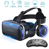 VR SHINECON 3D Glasses Virtual Reality Headset + Bluetooth Controller For Phone