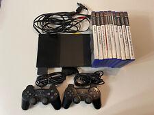 Sony PlayStation 2 Slimline Konsole Mit Spielen Und 2 Controllern