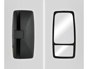 "2 Piece Replacement Truck Mirror Head with Spotter RH: Hino / Isuzu 17½"" x 8"""