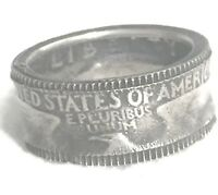 Quarter Dollar Liberty 1964 Coin United States Eagle Ring Size 6.2 Trench Art