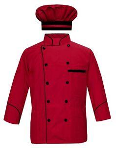 Leorenzo Chef Jacket Full Sleeves With Cap Kitchen Uniform Restaurant Dress