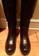 NEW WOMEN BED STU MANCHESTER II TALL BLACK BROWN TEAK RUSTIC LEATHER BOOTS 7  8