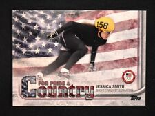 2018 Topps US Winter Olympics Pride and Country #JS Jessica Smith
