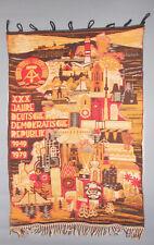 Alter Gobelin Wandteppich 30 Jahre DDR 1949-1979 vintage GDR selten !