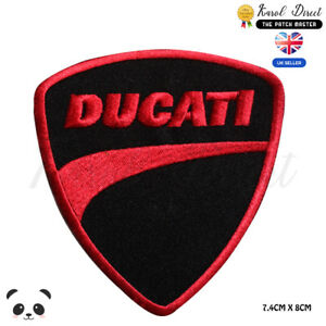 Ducati Motor Bike Embroidered Iron On Sew On PatchBadge For Clothes etc