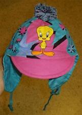 Tweety Bird Looney Tunes baby toddler hat bonnet ear flaps pom New w/ Tag