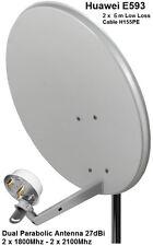 Dual Mobile Broadband Antenna ZTE Aerial Booster MF28 B586 SMA 1800-2600Mhz