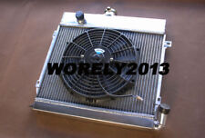 Aluminum custom radiator + fan for BMW E21 320i M10 1977 - 1983 manual