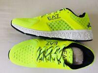 EMPORIO ARMANI EA7 Fluor. Yellow Memory Foam EA7 Logo Trainers UK 6 - 8 BNWT/BOX