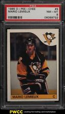 1985 O-Pee-Chee Hockey Mario Lemieux ROOKIE RC #9 PSA 8 NM-MT