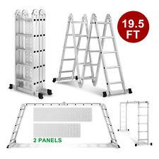 Folding 195ft Multi Purpose Step Ladder Aluminum Extension Heavy Duty Scaffold