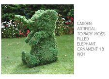 Artificielle jardin topiaire animaux éléphant Moss rempli Cadre orniment 18 in (environ 45.72 cm)
