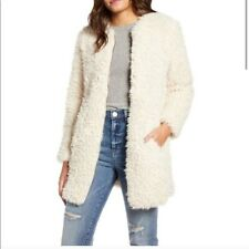 BB Dakota  Soft Spot Faux Fur Coat Tan size M NWT