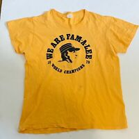 Pittsburgh Steelers Pirates VTG 1979 T Shirt We Are Fam-a-lee World Champions