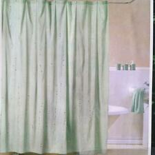 Lovely Shining Sequin Trail Embroidery Green Shower Curtain