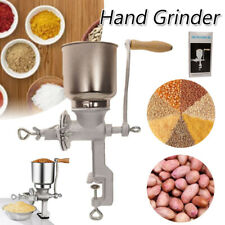 New Hand Cranking Grinder Stainless Steel Corn Grain Wheat Nut Flour Mill Grind